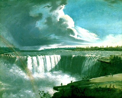 painting and nature preservation niagara falls with